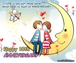 tenth wedding anniversary happy wedding anniversary greetings for a with deeply in
