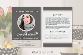 Funeral Program Designs Funeral Program Template Gray Brochure Templates Creative Market