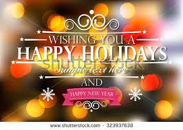happy holidays happy new year wishes stock vector 323937638