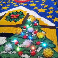 christmas tree jumper with lights history of lighted jumpers cheesy christmas jumpers