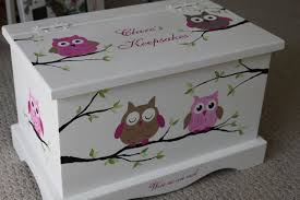 keepsake box personalized baby keepsake box chest baby memory box personalized pink owls