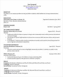 Example Student Resumes Very Good by Be Skillful In Writing College Student Resume