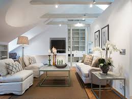 interior modern attic kitchen living room combo decorating ideas