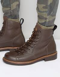 mens lace up motorcycle boots g star raw roofer lace up leather boots in brown for men lyst
