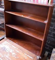 birch bookcase with three adjustable shelves wide bookshelf
