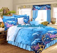 Nautical Bed Set Dolphin Bedding Tropical All Sizes Nautical Blue