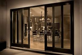 modern sliding french doors exterior with wooden frame painted