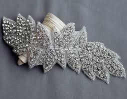 Wedding Dress Sashes Rhinestone Applique Bridal Accessories Crystal Trim Rhinestone