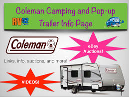coleman camping trailer information video gallery and for sale page
