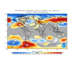 Current Temperature Map Global Climate Report March 2017 State Of The Climate