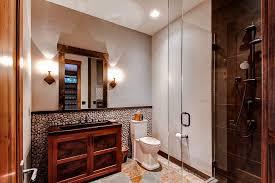 river rock bathroom ideas rock bathroom lavish bathroom with wooden ceiling21 river rock