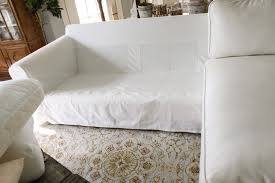 ikea slipcover sofa how the heck i maintain white furniture with four kids a review