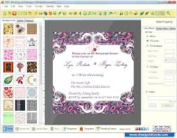 wedding invitations maker wedding card maker software designs printable and scanable