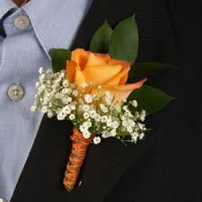 corsage and boutonniere cost orange and yellow boutonniere and corsage wedding package
