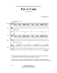 pat a cake satb by waters r j w pepper sheet music
