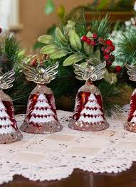 avoca blue set of 4 red angel ornaments blarney