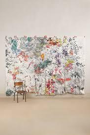 Sharpie Wall Mural Birds Of Paradise Mural Anthropologie Com Wall Floor