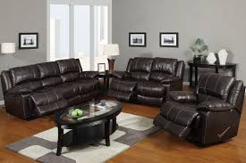 Brown Leather Sofa And Loveseat Modern Style Sofa Loveseat Recliner Sets With Brown Bonded Leather