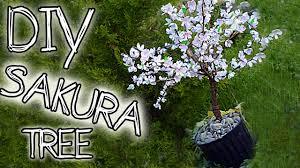 diy paper sakura cherry blossom tree step by step music by