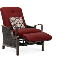Ventura Patio Furniture by Ventura Luxury Recliner In Crimson Red Venturarec Red