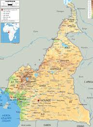 Physical Map Of Africa by Maps Of Cameroon Map Library Maps Of The World