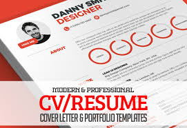 Resume Template With Cover Letter Modern Cv Resume Templates Cover Letter U0026 Portfolio Page