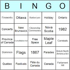 canada day bingo cards printable bingo activity game and templates