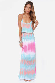 summer maxi dresses tie dye dress maxi dress blue dress 36 00