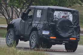 light blue jeep wrangler 2 door 2018 jeep wrangler two door spotted for the first time autoguide