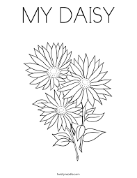 coloring alluring daisy coloring letter daisy