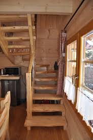 log stairs staircase traditional with cabin decorating