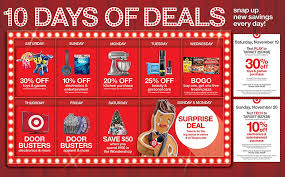 when does the online target black friday shopping start target unveils holiday savings with 10 days of deals