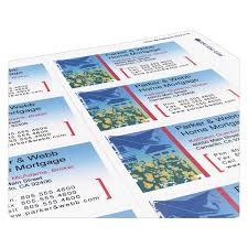 inkjet microperforated business cards walmart com