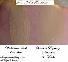 sonia kashuk perfecting luminous foundation review u0026 swatches