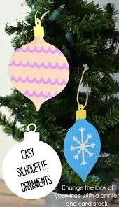 simple card stock ornaments