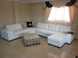sectional living room corner sofa with sleeper white exclusive design
