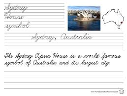 free cities of the world cursive worksheets summer work for