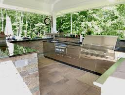 kitchen outside kitchen island in artistic outdoor kitchen