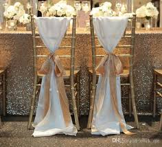 wedding chair bows fashiontaffeta chair covers without chagne ribbon seqined