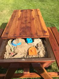 Outdoor Childrens Table And Chairs How To Build A Kids Picnic Table And Sandbox Combo Diy Projects