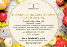 free tasting thanksgiving countdown grand tasting tickets thu