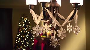 How To Decorate A Chandelier Chandelier Sparkle Holiday Decorating Tips From Debbie Youtube
