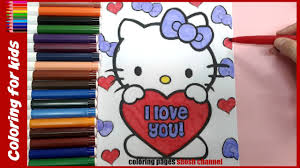 hello kitty valentines day coloring pages from coloring pages