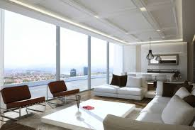 Modern White Sectional Sofa by Living Room Living Room With Marvelous View Features Floor To