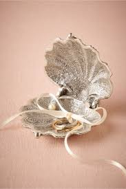 ring holder for wedding silvery seashell ring holder in décor gifts bhldn