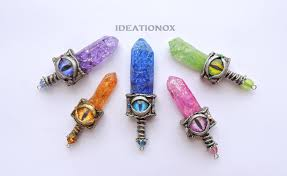 dragon glass pendant necklace images Crystal swords dragon eye charms by ideationox by ideationox on jpg
