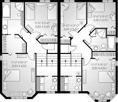 family floor plans gailcrest multi family duplex plan 032d 0607 house plans and more
