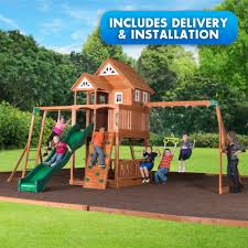 backyard discovery elmwood swingset free delivery and installation