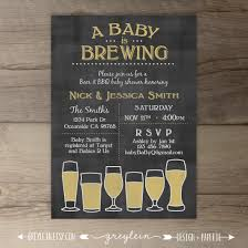 baby is brewing babyq baby shower invitation guy friendly