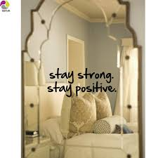 Mirror Stickers Bathroom Stay Strong Stay Positive Quote Wall Mirror Sticker Office Bedroom